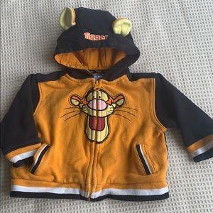 Disney Tigger Zip Hoodie size 18 months